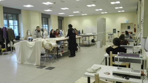Via al Laboratorio di Sartoria dell'Accademia Albertina di Belle Arti di Torino ad Open Incet