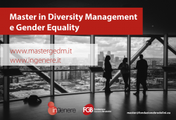 Master in Diversity Management and Gender Equality