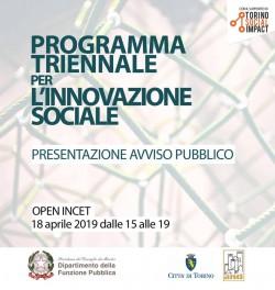 Presentazione programma triennale per l'innovazione sociale
