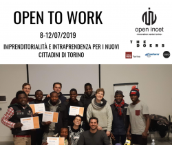 Open to work – imprenditorialità e intraprendenza per i nuovi cittadini di Torino