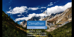 CLIMATHON-Cambia il clima, Cambia la montagna, Cambiamo il turismo